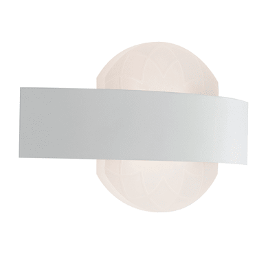 Applique moderno Himalaya LED integrato bianco, in acciaio inossidabile, 13.2x24 cm,