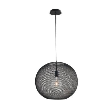 Lampadario Design Esedra nero in metallo, D. 50 cm, L. 120 cm, FAN EUROPE