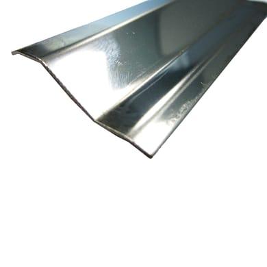 Profilo Profloor acciaio 3.8 x 93 cm