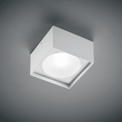 Plafoniera design Cube square LED integrato bianco, in alluminio, 12x12 cm,