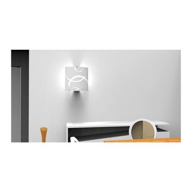 Applique classico Corona LED integrato bianco, in vetro, 26x26 cm, LUMICOM