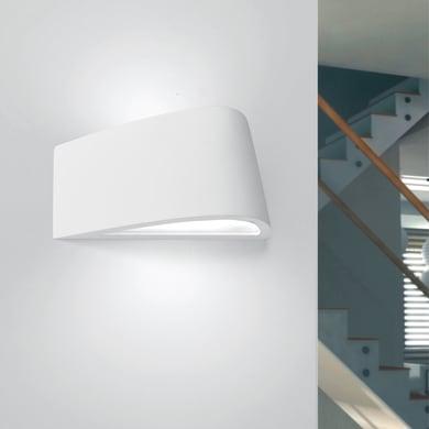 Applique design Delfi bianco, in gesso,  D. 35 cm 35 cm, 2 luci TECNICO