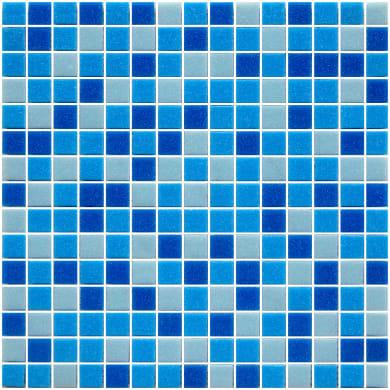 Mosaico Pool H 32.7 x L 32.7 cm azzurro