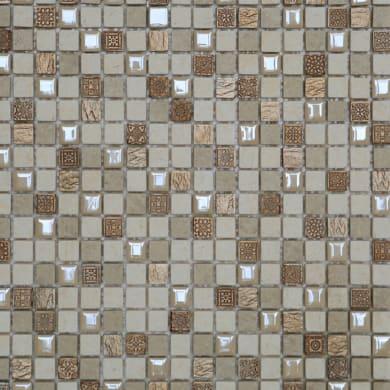 Mosaico Fusion Cream H 30 x L 30 cm bianco