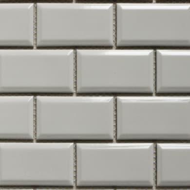 Mosaico Metro H 29.25 x L 29.25 cm bianco