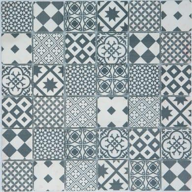 Mosaico Cementina H 30 x L 30 cm bianco e grigio