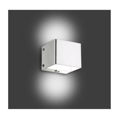 Applique moderno Lampo cromo, in acciaio, 7x7 cm,
