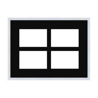 Cornice INSPIRE Vela per 4 fotografie 10 x 15 bianco