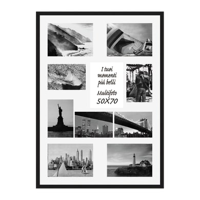 Cornice Vela per 10 fotografie 10 x 15  nero