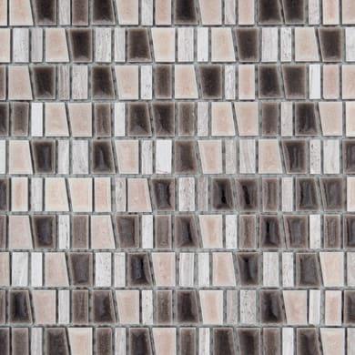 Mosaico Murini H 31 x L 32 cm marrone e beige