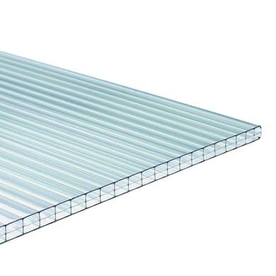 Lastra alveolare ONDULINE Onduclair PCMW in policarbonato H 98 x L 200 cm, Sp 10 mm