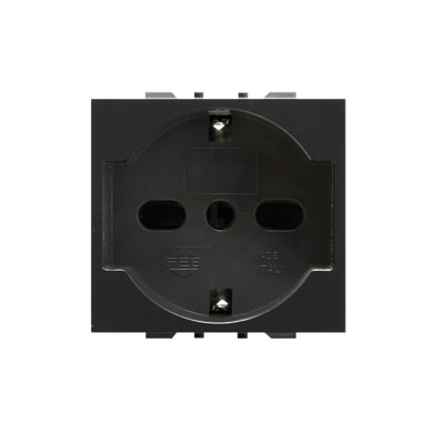 Presa universale FEB Click-Laser 16 A nero