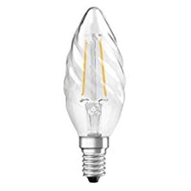 Lampadina LED filamento, E14, Torciglione, Trasparente, Luce calda, 3W=250LM (equiv 25 W), 320° , OSRAM