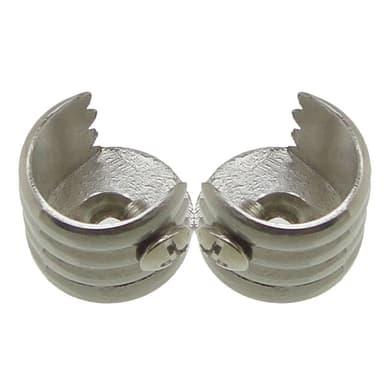 Supporto singolo aperto Ø16mm Stelvio in metallo cromo lucido, 2 pezzi