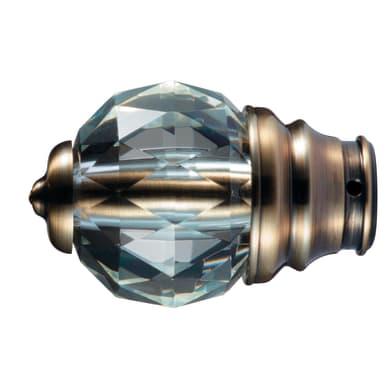 Finale per bastone Ø20mm Emis sfera in alluminio dorato spazzolato INSPIRE Set di 2 pezzi