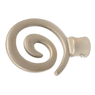 Finale per bastone Ø20mm Deserto spirale in alluminio verniciato Set di 2 pezzi