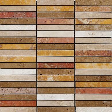 Mosaico Stick H 30 x L 30 cm rosso