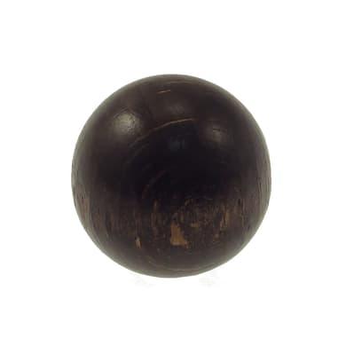 Finale per bastone Zip pomolo in legno Ø11mm noce verniciato Set di 2 pezzi