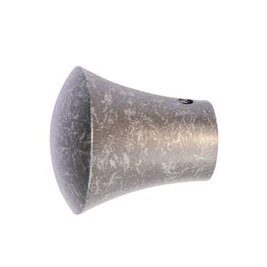 Finale per bastone Ø20mm Kama cono in acciaio grigio anticato INSPIRE Set di 2 pezzi