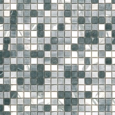 Mosaico Miscela H 30 x L 30 cm grigio e antracite