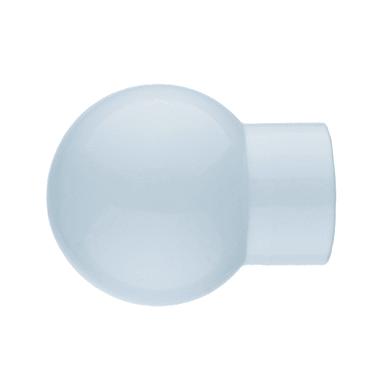 Finale per bastone Ø20mm Nilo sfera in lega zinco bianco lucido INSPIRE Set di 2 pezzi