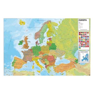 Poster Mappa Europa fisico-politico 91.5x61 cm