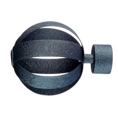 Finale per bastone Ø20mm Orion sfera in metallo nero opaco INSPIRE Set di 2 pezzi
