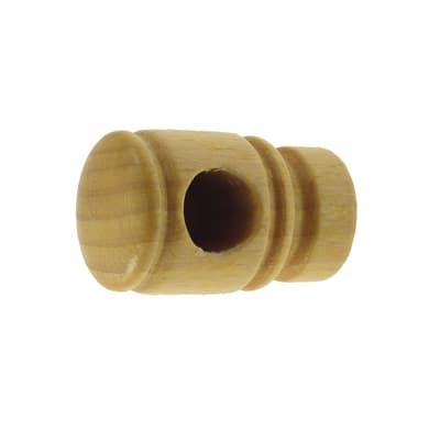 Supporto singolo aperto legno in legno naturale verniciato, 2 pezzi