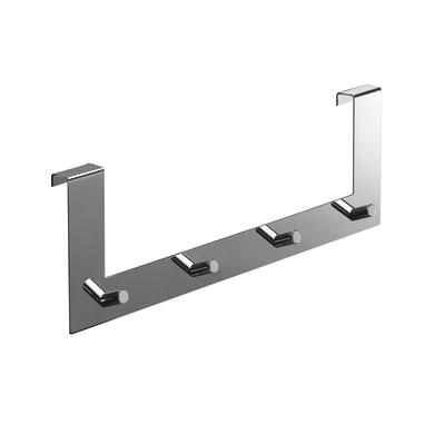 Appendino multiplo Sopra porta argento/grigio lucido in metallo