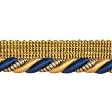 cordone con fettuccia blu, oro Ø 0.8 cm
