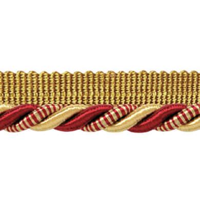 cordone con fettuccia bordeaux, oro Ø 0.8 cm