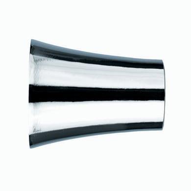 Finale per bastone Ø20mm Nilo cilindro in alluminio grigio e argento lucido INSPIRE Set di 2 pezzi