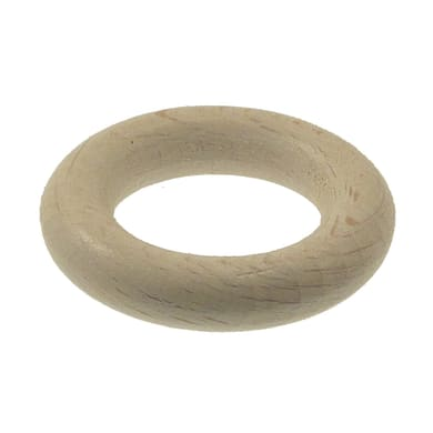 Anelli Ø11mm Zip in legno bianco sbiancato, 8 pz