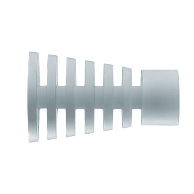 Finale per bastone Ø20mm Nilo cono in alluminio lucido INSPIRE Set di 2 pezzi