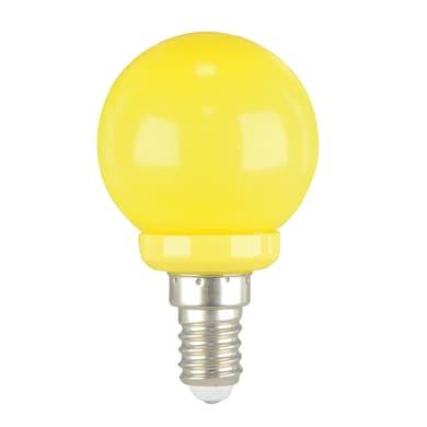 Lampadina LED, E14, Sferico, Giallo, Luce calda, 1W=450LM (equiv 40 W), 220° , LEXMAN