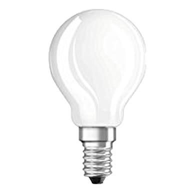 Lampadina LED filamento, E14, Goccia, Opaco, Luce calda, 5W=470LM (equiv 40 W), 300° , OSRAM