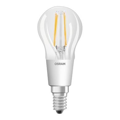 Lampadina LED, E14, Sferico, Trasparente, Luce calda, 4.5W=470LM (equiv 40 W), 300° , OSRAM