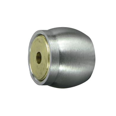 Supporto singolo aperto Ø20mm Time in acciaio grigio satinato4 cm, 2 pezzi