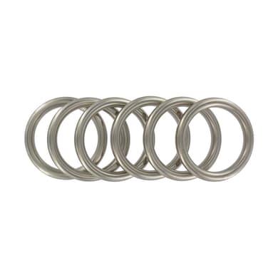 Anello Ø25mm in metallo cromo opaco , 6 pezzi