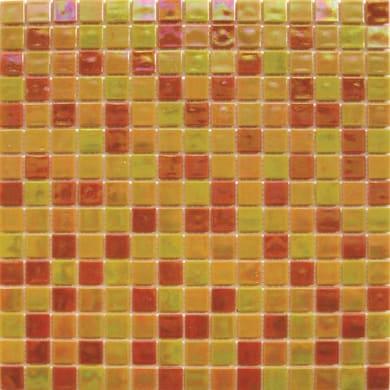 Mosaico Reflex mix H 32.7 x L 32.7 cm arancione, rosso, giallo