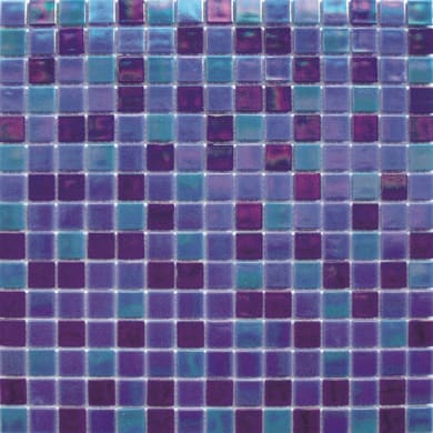 Mosaico Reflex mix H 32.7 x L 32.7 cm blu