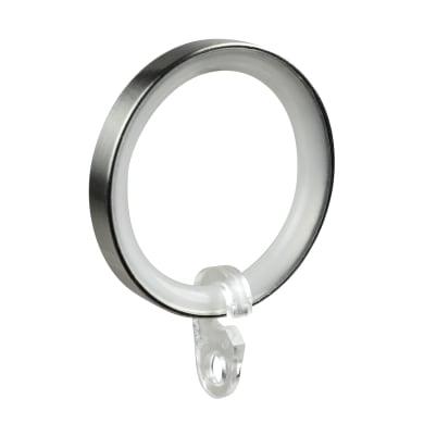 Anelli in metallo acciaio satinato , 6 pezzi