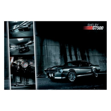 Poster Ford Mustang GT500 91.5x61 cm