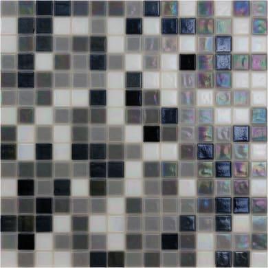 Mosaico Reflex mix H 32.7 x L 32.7 cm bianco, nero