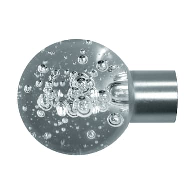 Finale per bastone Ø20mm Danau sfera in metallo satinato INSPIRE