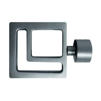 Finale per bastone Ø20mm Danau quadrato in metallo satinato INSPIRE
