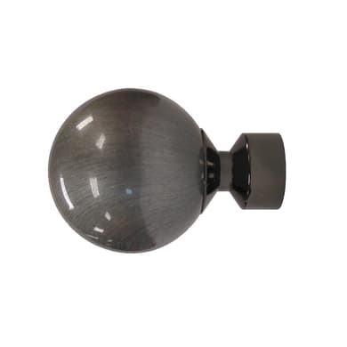 Finale per bastone Ø28mm Loira sfera in resina antracite lucido