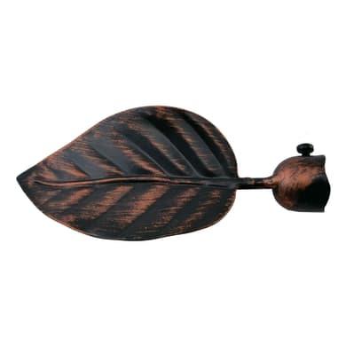 Finale per bastone Ø20mm Eco foglia in metallo verniciato