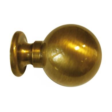 Finale per bastone Ø28mm Lena sfera in metallo lucido