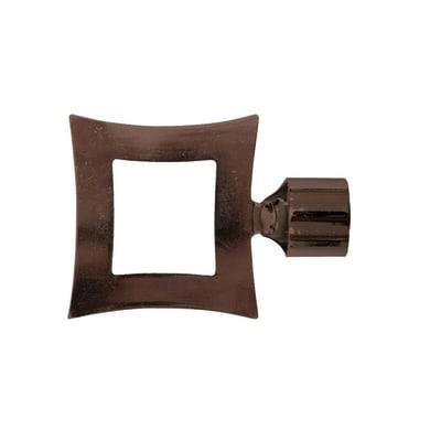 Finale per bastone Loft quadrato in metallo Ø25mm bronzo satinato